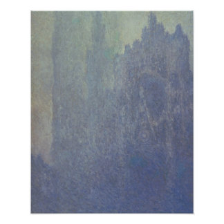 Rouen Cathedral, Foggy Weather, 1894 (oil on canva Poster