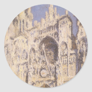 Rouen Cathedral, Full Sunlight by Claude Monet Stickers