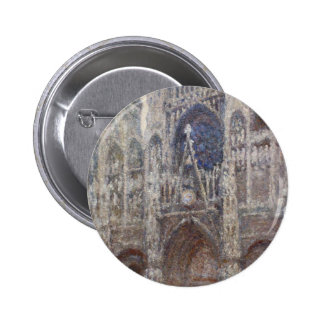 Rouen Cathedral, Grey Weather by Claude Monet 6 Cm Round Badge