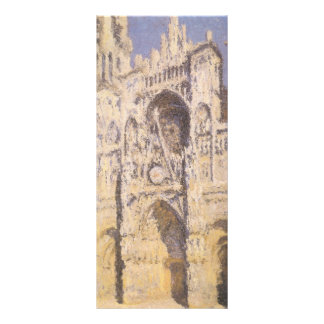 Rouen Cathedral, Harmony Blue Gold by Claude Monet Full Colour Rack Card