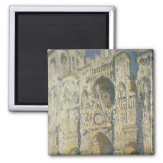 Rouen Cathedral in Full Sunlight Square Magnet