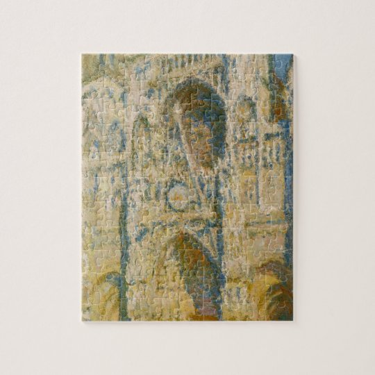 Rouen Cathedral, the Portal and the Tower d`Allban Jigsaw Puzzle