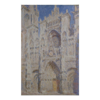 Rouen Cathedral The Portal Sunlight Poster