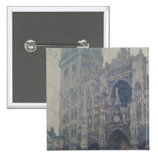 Rouen Cathedral, West Portal, Grey Weather, 1894 15 Cm Square Badge