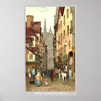 Rouen Street Poster