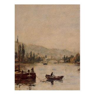 Rouen, the Santa-Catherine Coast, Morning Mist Postcard
