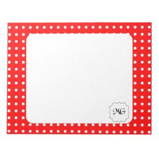rouge à pois blanc memo notepad