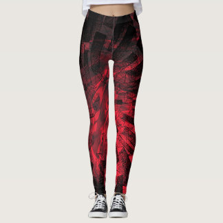 Rouge Faceted Shapes - Leggings