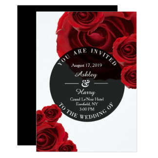 Rouge Flora Wedding Invitations