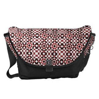 Rouge Moroccan Pattern Courier Bag