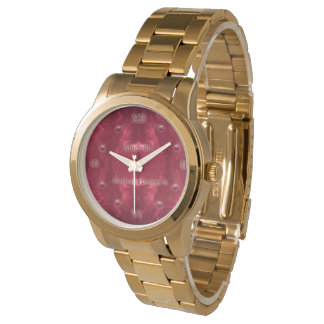 Rouge Puddles Diamond Gold Watch