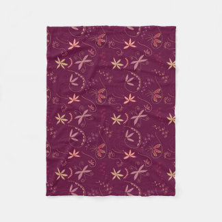 Rouge swirls and twirls fleece blanket