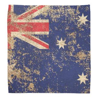 Rough Aged Vintage Australian Flag Bandana
