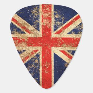 Rough Aged Vintage British Flag Guitar Pick