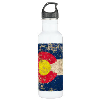 Rough Aged Vintage Colorado Flag 710 Ml Water Bottle