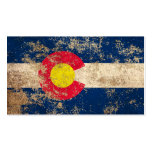 Rough Aged Vintage Colorado Flag Business Card Templates