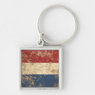 Rough Aged Vintage Dutch Flag Key Chain