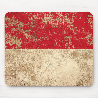 Rough Aged Vintage Indonesian Flag Mouse Pad