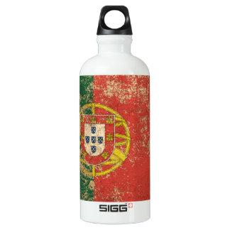 Rough Aged Vintage Portuguese Flag Water Bottle