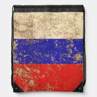 Rough Aged Vintage Russian Flag Rucksacks