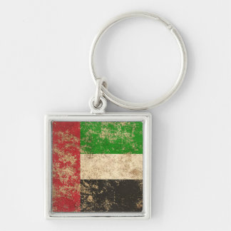 Rough Aged Vintage UAE Flag Keychain