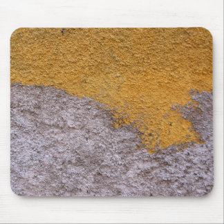 Rough Beton Grey Yellow Construction Wall Mouse Pad