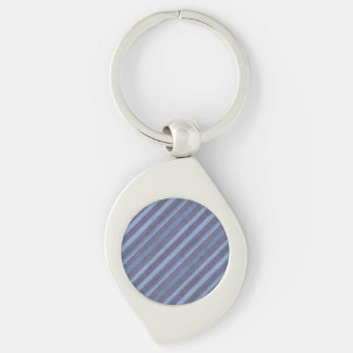 Rough Blue Purple Stripe Swirl Chain Silver-Colored Swirl Key Ring