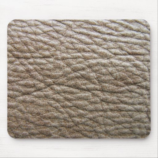 Rough brown faux leather texture, lots of creases mouse pad