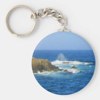Rough Cape Neddick Coast Basic Round Button Key Ring