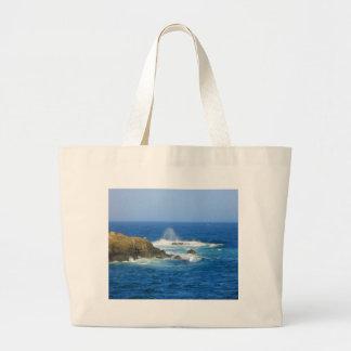 Rough Cape Neddick Coast Large Tote Bag
