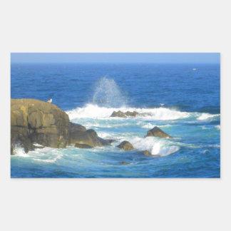 Rough Cape Neddick Coast Rectangular Sticker