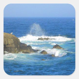 Rough Cape Neddick Coast Square Sticker