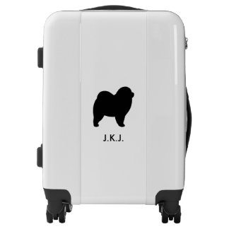 Rough Chow Chow Silhouette Personalized Luggage