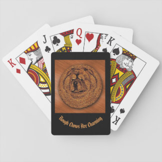 Rough Chow Head Playing Cards