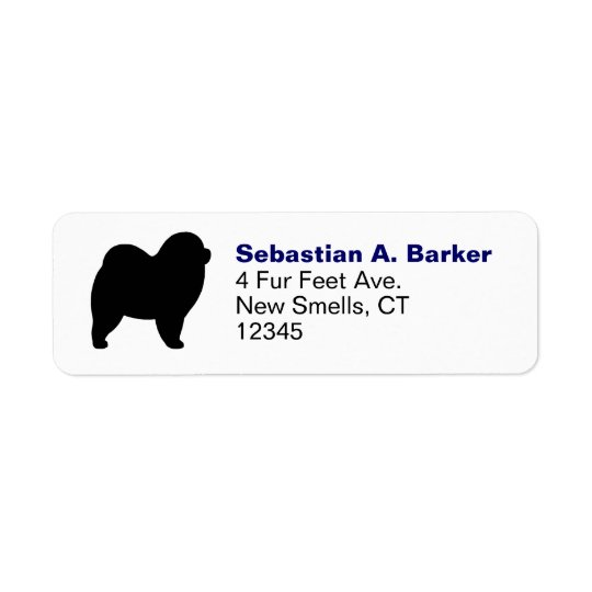 Rough Chow Silhouette Return Address Label