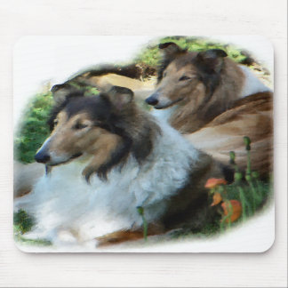 Rough Collie Art Gifts Mouse Pads