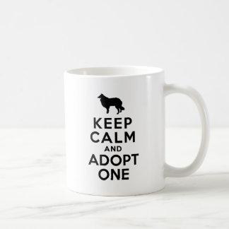 Rough Collie Basic White Mug