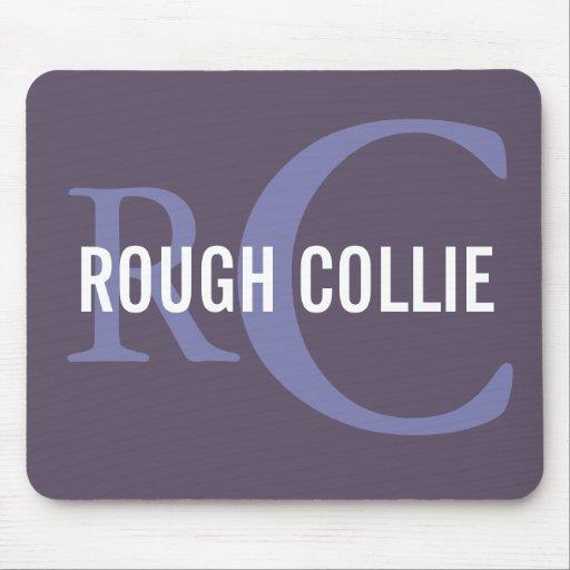 Rough Collie Breed Monogram Design Mouse Pad