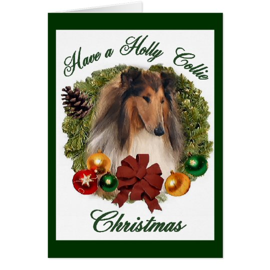 Rough Collie Christmas Gifts Card