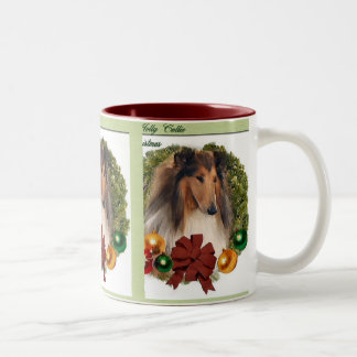 Rough Collie Christmas Gifts Mugs