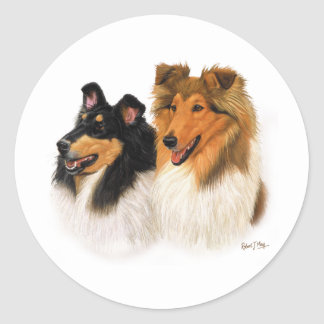 Rough Collie Classic Round Sticker