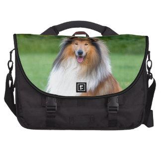 Rough Collie dog beautiful commuter laptop bag
