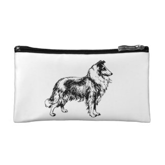Rough Collie dog beautiful illustration, gift Cosmetic Bag