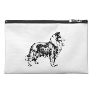 Rough Collie dog beautiful illustration, gift Travel Accessory Bags