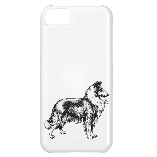 Rough Collie dog beautiful illustration, gift Cover For iPhone 5C