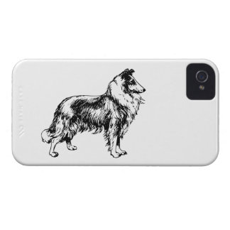 Rough Collie dog beautiful illustration, gift Case-Mate iPhone 4 Cases