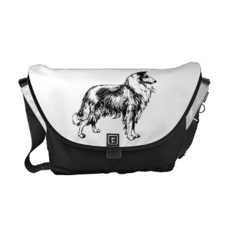 Rough Collie dog beautiful illustration, gift Commuter Bags