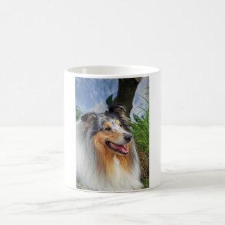 Rough collie dog beautiful photo coffee mug