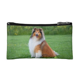 Rough Collie dog beautiful photo cosmetic bag
