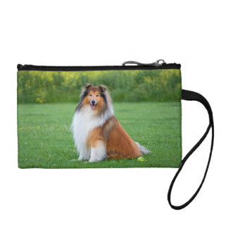 Rough Collie dog beautiful photo key coin clutch Coin Wallets